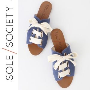 🆕 Sole Society Marinn Blue Jean Lace Up Sandals